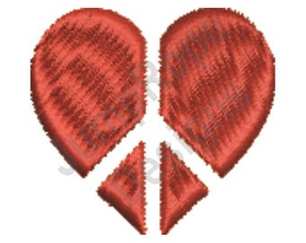 Peace Heart - Machine Embroidery Design