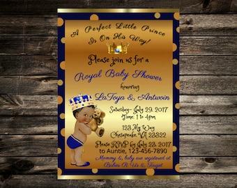 Royal Baby Shower Invite- Boy