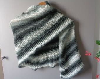 Hand knitted scarf stole shawl