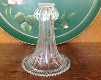 Antique Victorian Pressed Glass Tulip Shade