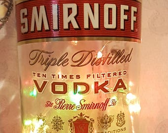 Smirnoff Vodka Bottle - With LED Battery Operated Lights