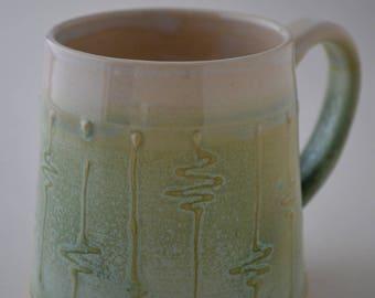 Ceramic mug, clay mug, stoneware mug, foodsafe, fresh green glaze, emerald glaze