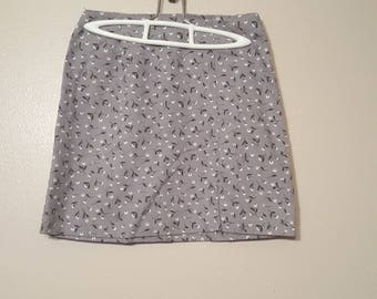 Gray Flower skirt