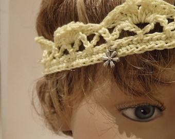 Crochet Crown Baby Girl Yellow