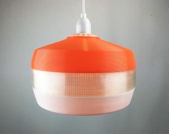 Rotaflex Heifetz Pendant Light. Midcentry lamp in plastic