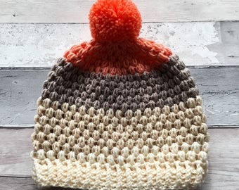 Ladies slouchy bobble hat - Teen slouchy bobble hat - ladies slouchy hat - teen slouchy hat - pom pom hat - Ladies winter slouchy