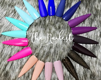Solid Nails | Choose Your Shade | Matte or Gloss | False Nails | Fake Nails |  Press On Nails | Glue On Nails | Custom Shapes | The Nailest
