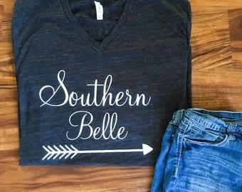 Southern bell shirt, southern bell shirts, fall clothing, custom shirts, southern belle, fall womens clothing, shirts for women