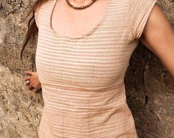 Open Back Khadi Choli Tie Top Natural Handloom Cotton