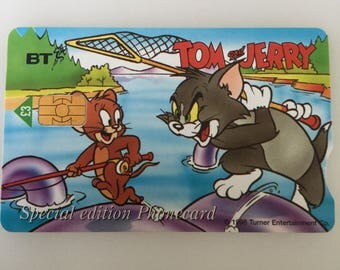 Special Edition Vintage Phone Card Tom And Jerry Loch Ness