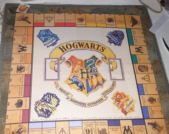 Harry Potter, Monopoly, Hogwarts Monopoly, Gryffindor, Hufflepuff,Ravenclaw,Slytherin Crest,Harry Potter Games,H Potter Monopoly 3 sizes