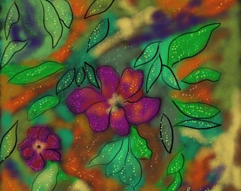 Abstract Dew On Flowers.