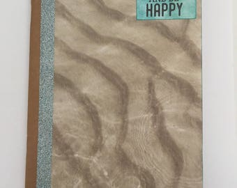 Decorated Notebook - Be Happy (N14)