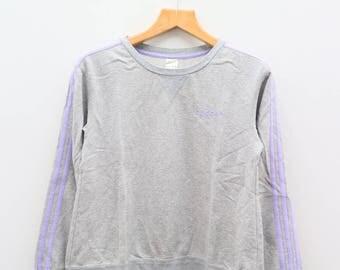 Vintage ADIDAS Small Logo Sportswear Gray Sweater Sweatshirt