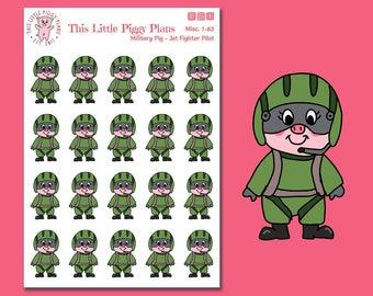 Jet Fighter Planner Stickers - Pilot Planner Stickers - Military Planner Stickers - Pilot Uniform - Military Uniform Stickers - [Misc. 1-83]