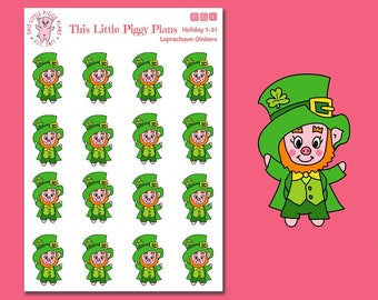 Leprechaun Planner Stickers - St. Patty's Day stickers - St. Patrick's Day - Planner Stickers - Leprechauns -Holiday Stickers [Holiday 1-31]