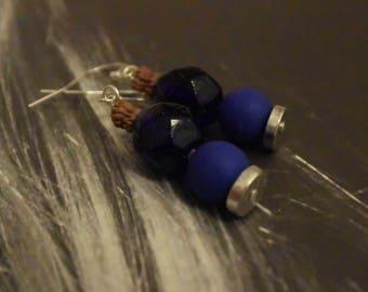 Earrings blue and Earth