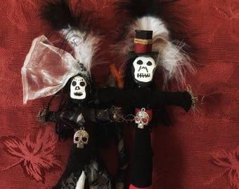 Baron Samedi Maman Brigitte Voodoo Doll Altar Juju Grim Reaper Altar Doll Loa Authentic New Orleans