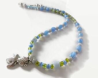 koi fish necklace, beaded