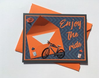 Greeting card with gift card holder - Enjoy yhe ride!