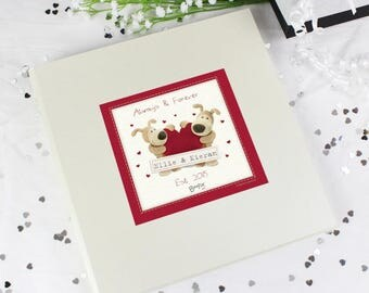 Personalised Boofle Shared Heart Album with Sleeves Gifts Ideas For Valentines Day Wedding Anniversary Engagement Presents
