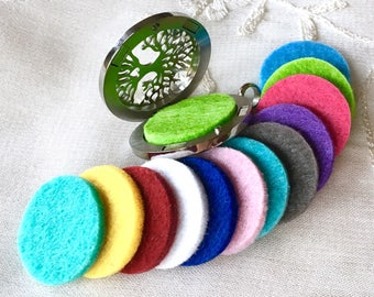 Felt Refills Pads for 30mm Diffuser Locket, Aromatherapy Oil Locket Pads, 23mm Essential Oil Locket Pads, Fit 30mm Stainless Steel Locket