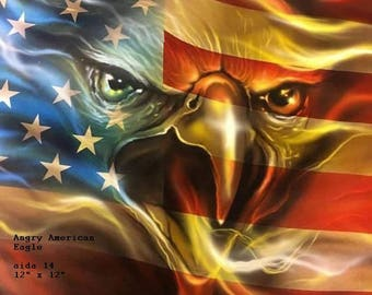 "American Eagle Cross Stitch Pattern. 12"" x 12"""