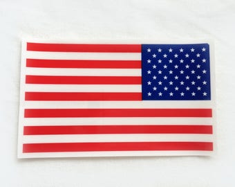 1X American Flag Static CLING Window Decals 4th Of July Patriotic Sticker Stars stripes red blue white USA America