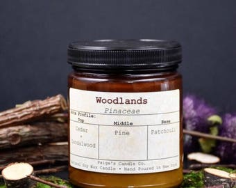 Woodlands Scented Natural Soy Wax Candle