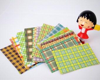 Tartan Instax film sticker, Tartan frame photo sticker, Tartan Instax mini photo frame, Instax mini decoration sticker