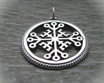 """Silver pendant """"Cross of Invincibility"""""""