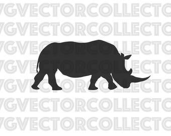 Rhinoceros Rhino, SVG DXF EPS PnG, Clip Art, Instant Digital Download