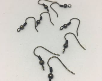 Antique Brass Earwires / French Hook / Jewelry Making / Earring Design / Decorative Earring