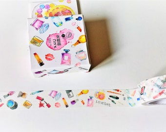 Perfume washi tape, Makeup tape, Washi tape, Masking tape, Washi, Tape, Bullet journal