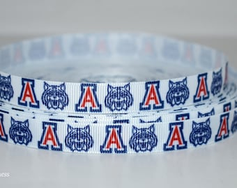"University of Arizona 1/2"" Grosgrain Ribbon M223 By the Yard"