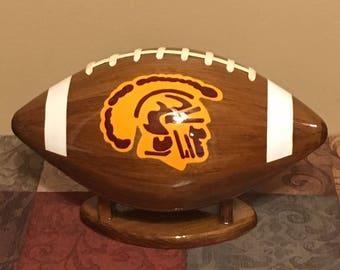 Custom Wooden Footballs