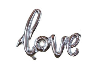 Silver LOVE Balloon 25th Anniversary Party Decorations - Script/Handwritten -FREE Shipping- Engagement/ Wedding Balloons / Valentines Day