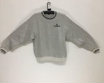 LE COQ SPORTIF Golf Collection Made In Japan Crew Sweatshirt Spell Out Sweaters
