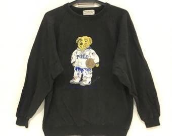Vintage POLO BEAR POLO ground japan nba basketball size large crew sweatshirts