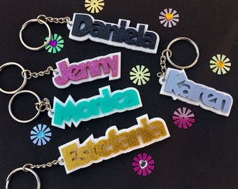 Personalized Name Keychain School Bag Tag (Buy 4 Get 1 FREE) Christmas Gift