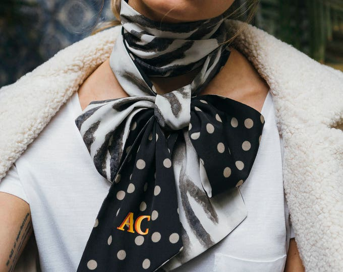 Safari scarf + Monogram