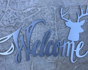 Welcome Sign with Deer Accent