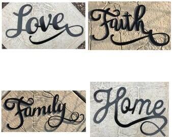 All 4 Signs! Love, Faith, Family Home