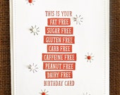 Happy Birthday, Homemade, Greeting Card, Bold, Funny