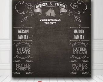 Personalized Wedding Chalkboard Photo Booth Backdrop