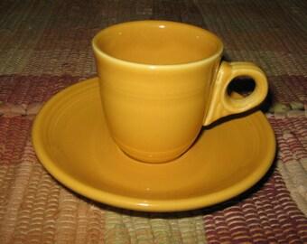Fiestaware Fiesta Marigold Yellow Demitasse Cup & Saucer Set