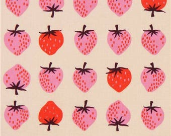 Strawberry Peach from Yours Truly by Kimberly Knight for  Cotton and Steel Fabric 3040-001