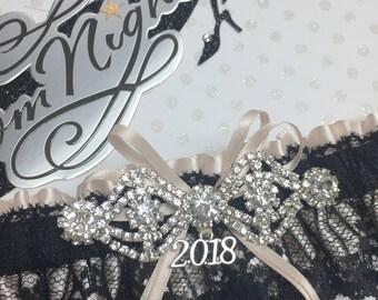Nude * Black Prom Garter,  Prom garters