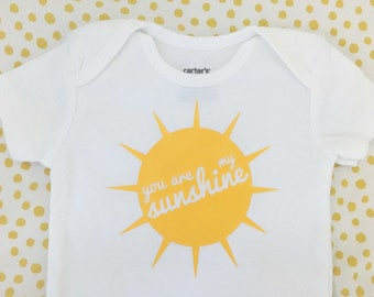 You Are My Sunshine Baby Onesie