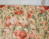 Vintage Sanderson Garden of England fabric | 1992 Sanderson fabric in autumnal floral print | Sanderson remnant | Upholstery weight cotton